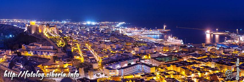 Almería al atardecer